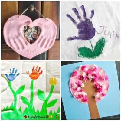 Mother's Day Handprint Crafts for Children