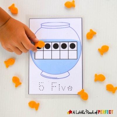 10-Frames Fish Bowl Math Free Printable