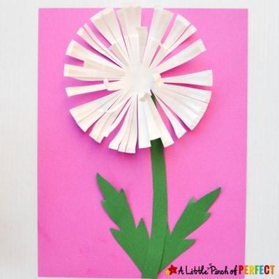 Dandelion Paper Plate Craft for Kids