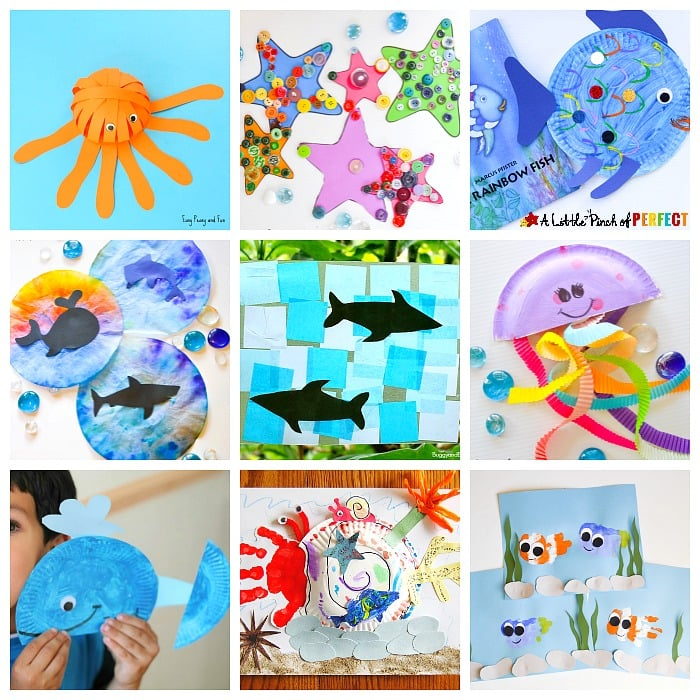 a great list of Ocean Activities for Kids! It includes sensory ocean activities, super fun ocean crafts, amazing ocean printables and even ocean educational ideas.