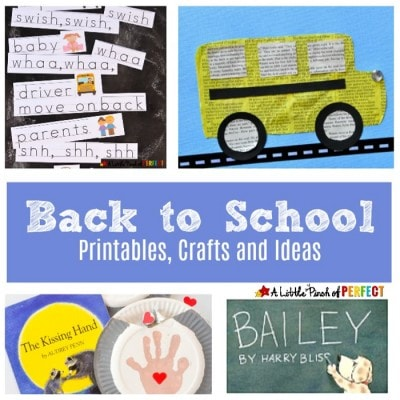 Back to School Printables, Crafts and Ideas