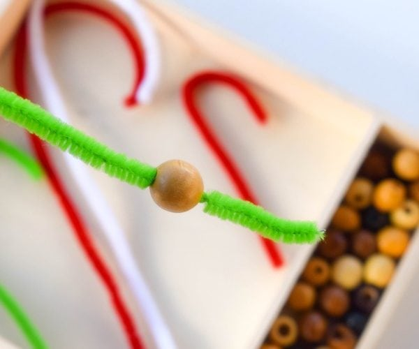 Candy Cane Fine Motor Skills Activity for Kids (December, Preschool, Kids Craft)