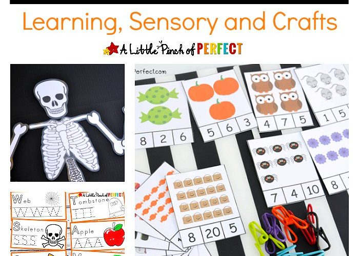 Halloween Activities – Learning, Sensory and Crafts