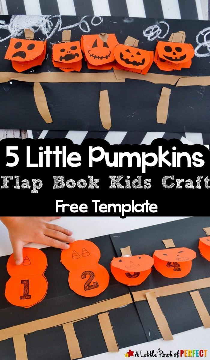 5 Little Pumpkins Flap Book Craft And Free Template
