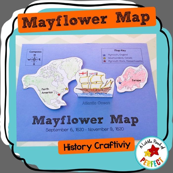 Mayflower Map: Thanksgiving History Craftivity