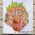 Thanksgiving Turkey Craft for Kids and Free Template: Children can color, paint, and assemble their own turkey to make a unique craft that's all their own.