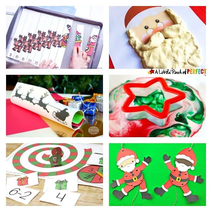 santa claus activities and printables - Santa Claus Preschool Crafts