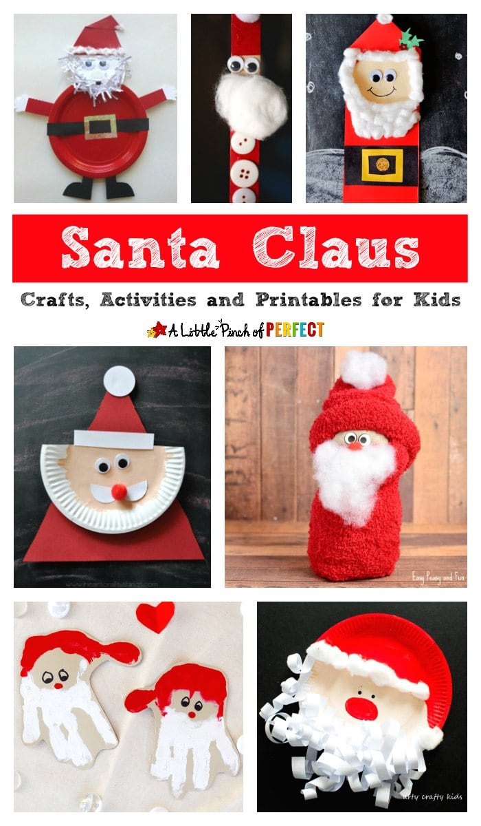 kids will love celebrating the christmas season with a great list of fun santa claus crafts activities and printables activities include santa playdough - Santa Printables