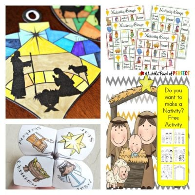 Nativity Scene Crafts, Activities and Printables for Christmas
