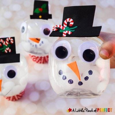 Fantastic Snowman Snow Globe Craft and Winter Sensory Bottle