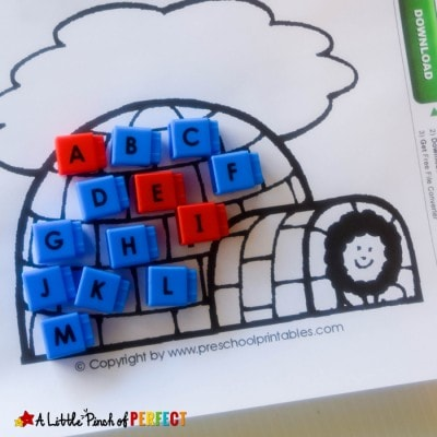 I is for Igloo Crafts Activities and Printables