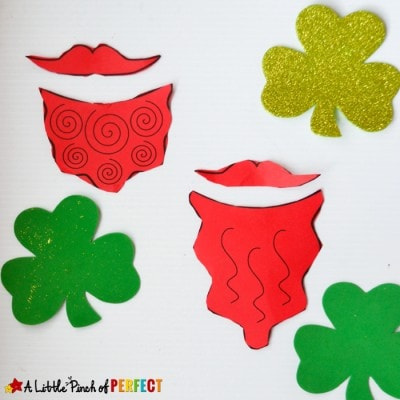 Leprechaun Beard Craft and Free Template for St Patrick's Day