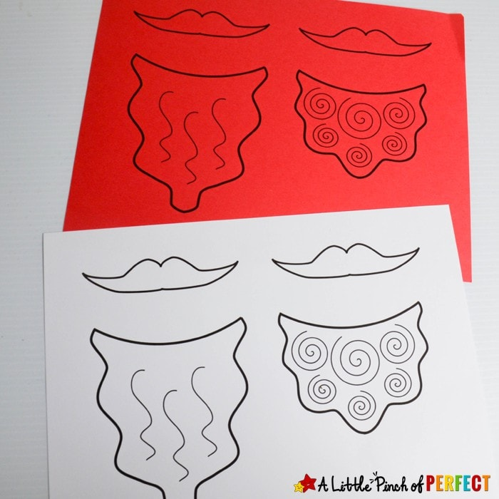 Leprechaun Beard Craft and Free Template for St Patrick's Day: There are 3 types of beards to choose from. Just print them out on colored paper or on white paper and let kids decorate their beard. (#kidscraft #stpatricksday #leprechaun)