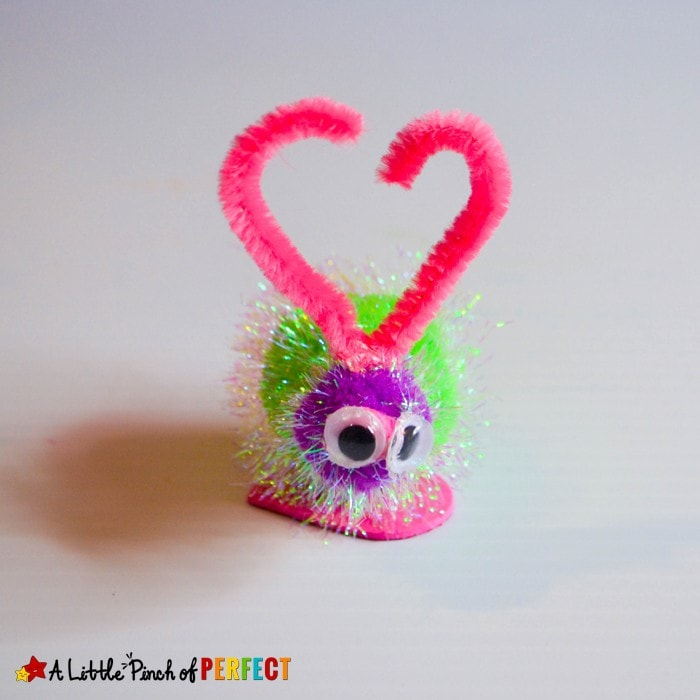 Adorable Fuzzy Love Bugs Valentines Day Craft for Kids: An easy Valentine's Day craft to make and decorate with or share them with friends!