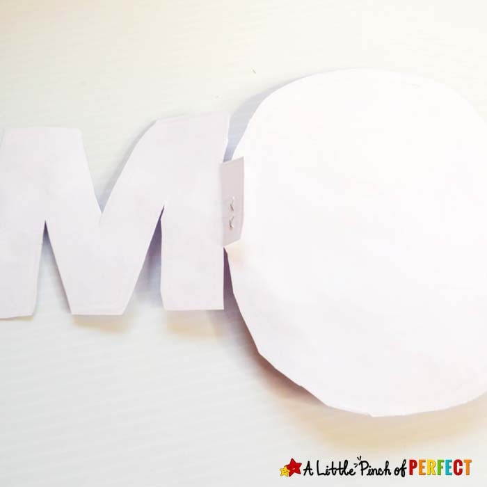MOM Mother's Day Craft: Free Template for Kids to decorate and make for mom (#kidscraft #craft #mothersday)