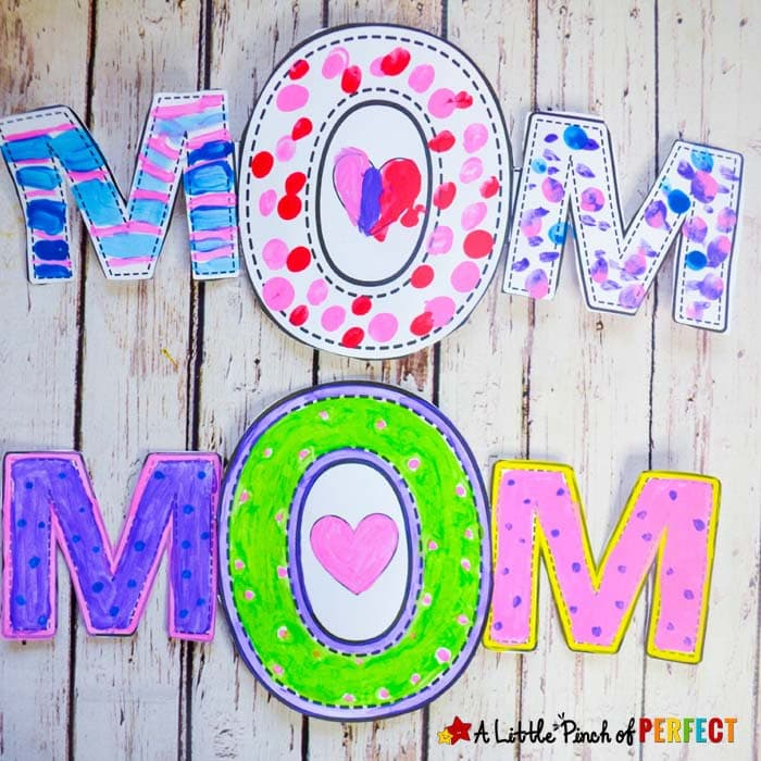 Mom Mother S Day Craft And Free Template For Kids