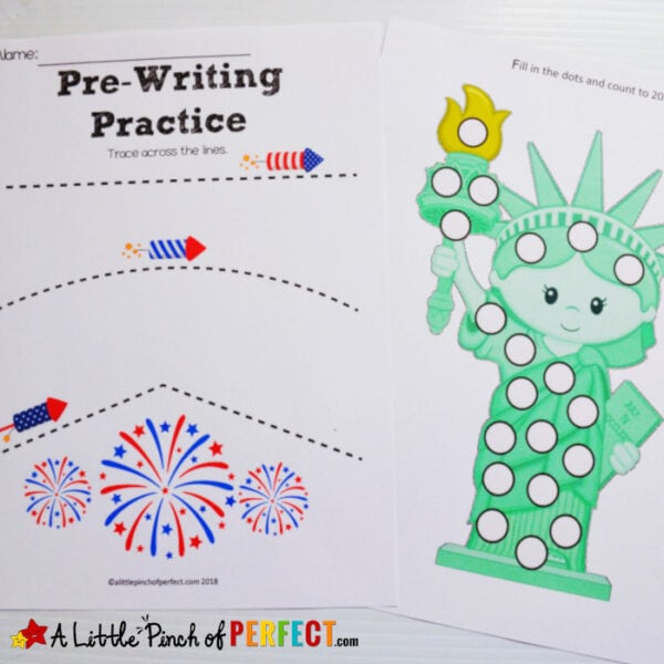 Fourth of July Free Printable Activity Pack for Kids