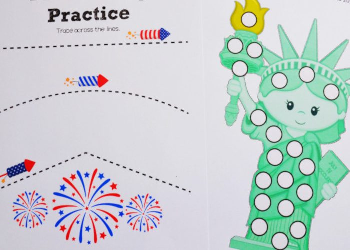 Fourth of July Free Printable Activity Pack for Kids (#fourthofjuly #preschool #kindergarten #kidactivities)