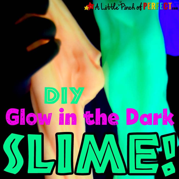 How to make Glow in the Dark Slime (#slime #sensoryplay #kidsactivity #halloween)