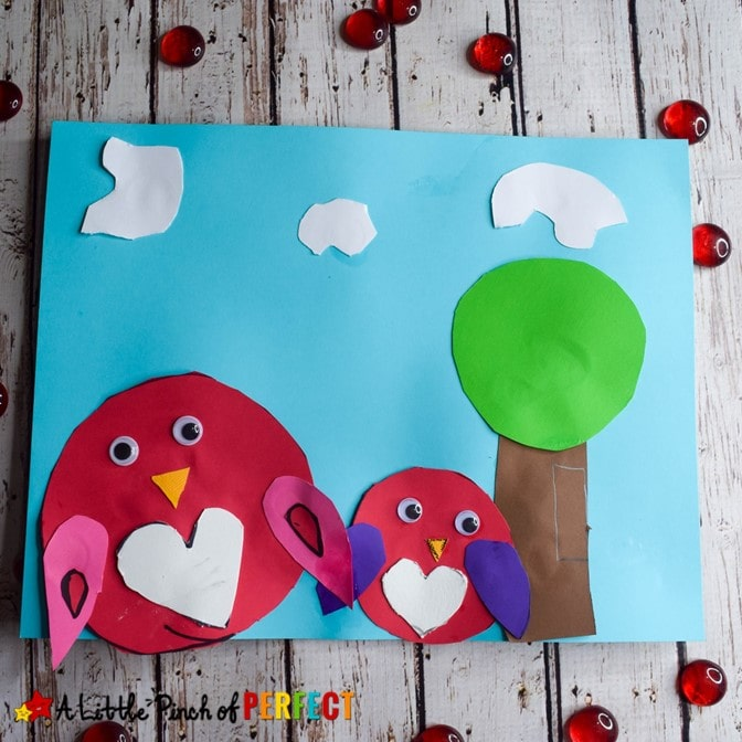 Valentines Day Owl Craft for Kids and Free Template (#valentinesday #owl #kidsactiviy #kidscraft #papercraft)