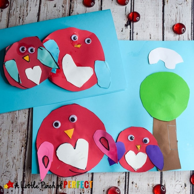 Valentine's Day Owl Craft And Free Template For Kids
