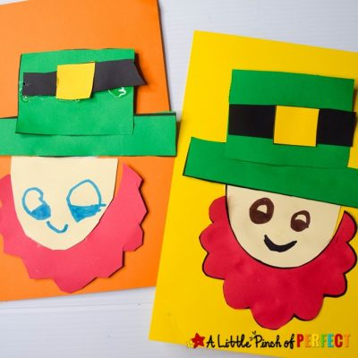Leprechaun St. Patrick's Day Kids Craft and Free Template