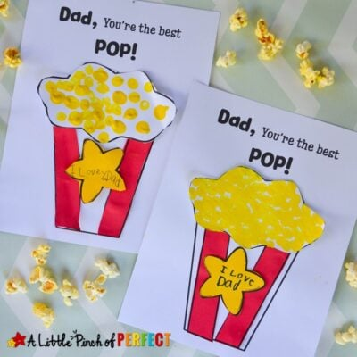 I Love You Pop: Popcorn Father's Day Craft
