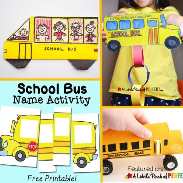 Bus Crafts and Activities for Back to School (#Backtoschool #crafts #printables #kidsactivies)