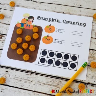 Free Printable Pumpkin Math Number Mats