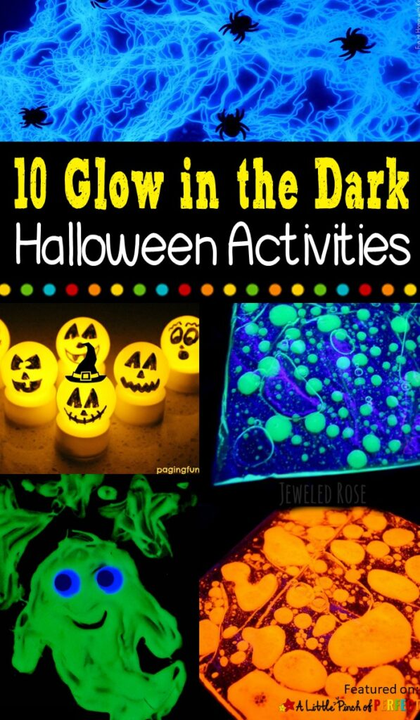 10 Fantastic Glow in the Dark Halloween Kids Activities (#halloween #kidsactivities #glowinthedark)