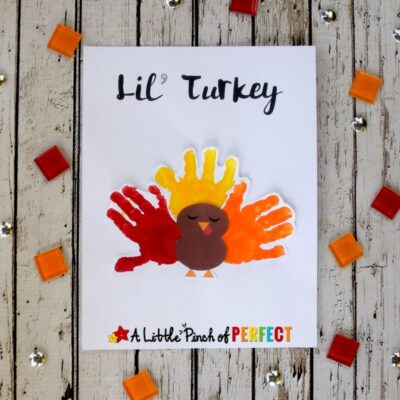 Lil' Turkey Thanksgiving Handprint Kids Craft