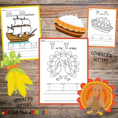 Thanksgiving Handwriting and Coloring Pages Kids Activity