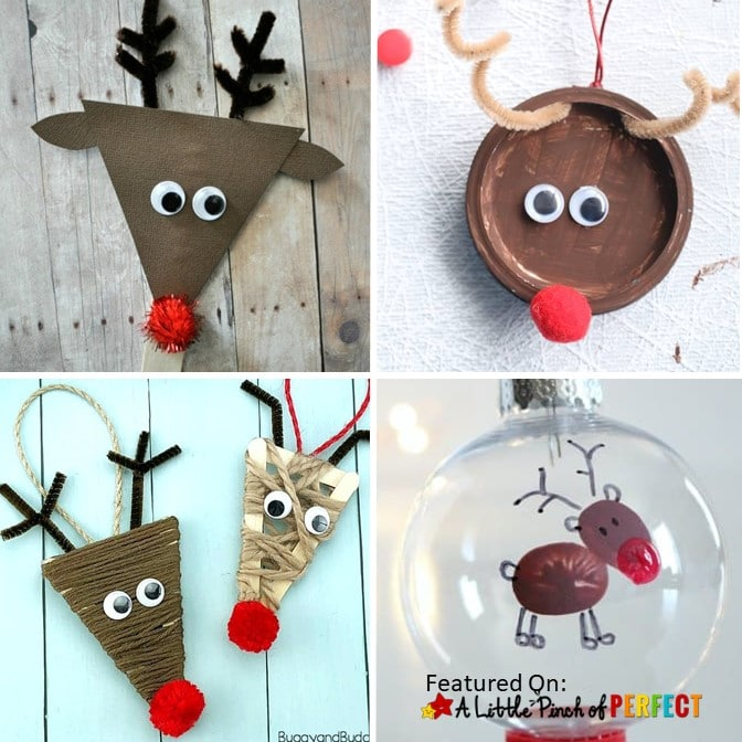 Kids will enjoy making reindeers with this inspiring list of 19 of the Best Reindeer crafts. Ideas include using paper plates, popsicle sticks, handprints,free templates, and even making yummy reindeer food treats. (#christmascrafts #crafts #kidsactivity #kidscraft)