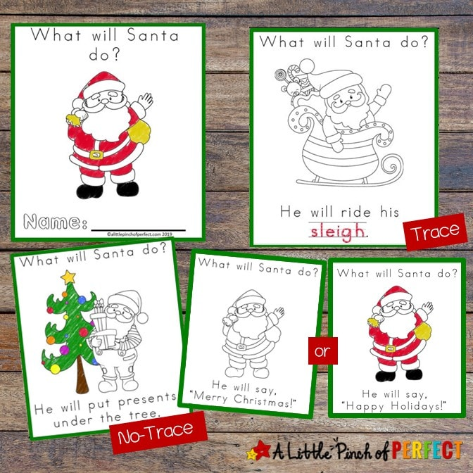 Christmas Free Printable Easy Reader Book What Will Santa Do