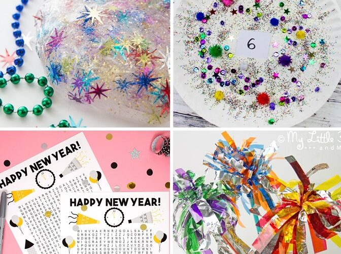 Have a spectacular time with your kids this New Year's with the best activities including free printables, games, New Year's slime, and crafts. The list will keep the kids busy for hours! (#newyears #newyearsparty #kidsactivity #kidsparty)