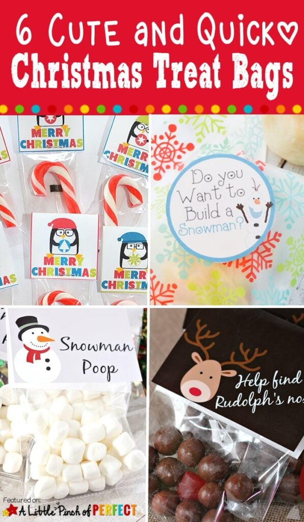 Christmas is coming and it's time to give out the treats!!! Check out these cute and quick Christmas Treat Bag Toppers ideas to keep your holidays stress-free and inexpensive.