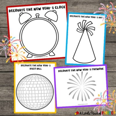 New Year's Kids Activity: Free Printable Playdough Mats