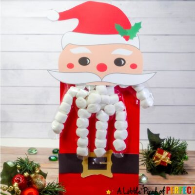 Santa Christmas Treat Bags: Free Printable Glove Topper
