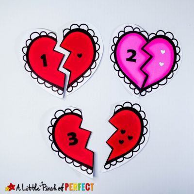 Valentine Heart Number Puzzles: Printable Math Activity