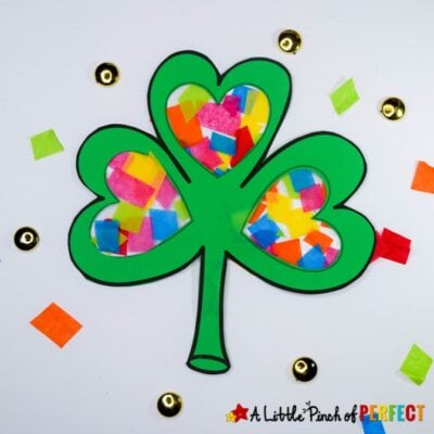 St. Patrick's Day Shamrock Craft and Free Template