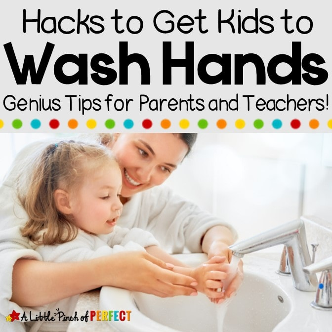 Keep sickness at bay with these genius hand washing hacks that will get kids excited to wash their hands while making sure germs get killed. (#parentingtips #parenting #hacks #washinghands)