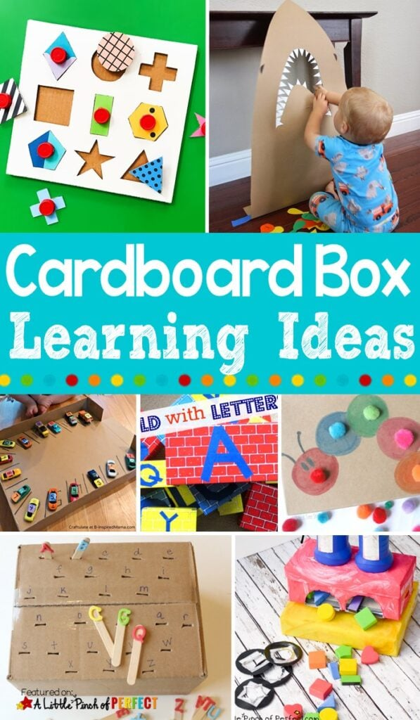 Clever Cardboard Box Boredom Buster Kids Activities: Entertain the kids with these 50+ cardboard box activities (#kidsactivity #crafts #boredombuster #preschool)