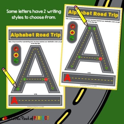 Alphabet Road Letter Mats: Trace and Write Set