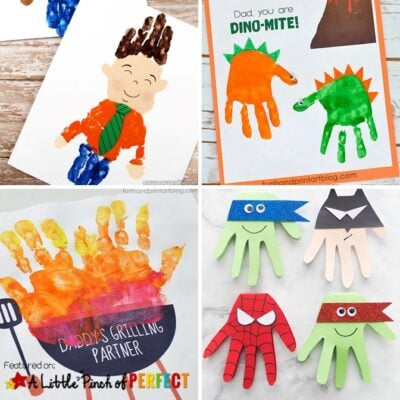 The Best Fathers Day Handprint Crafts for Kids to Make