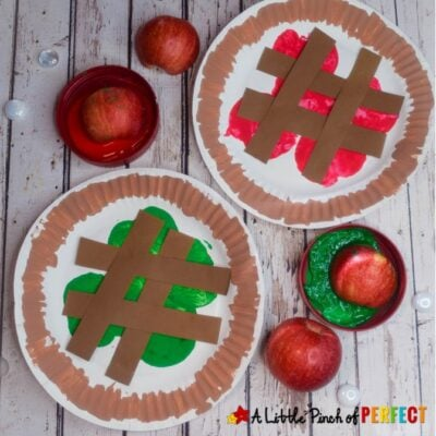Apple Pie Paper Plate Kids Craft