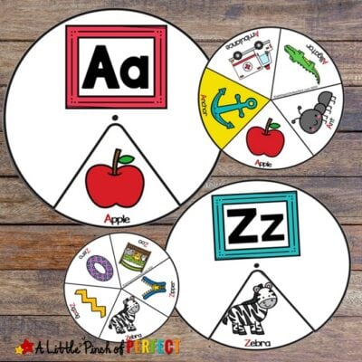 Alphabet Phonics Spinners Printable Activity