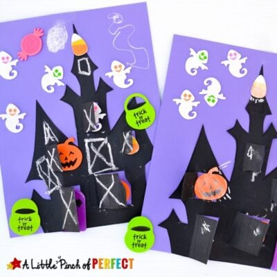 Haunted House Halloween Kids Craft and Free Template