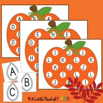 Pumpkin Letter Match: Free Printable Kids Activity