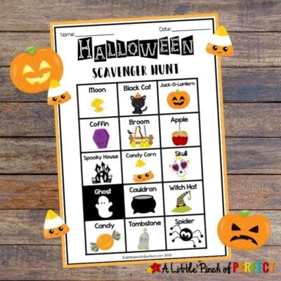 Halloween Scavenger Hunt Free Printable Activity for Kids