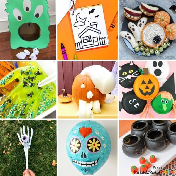 The Best Halloween Kids Activities Find your next favorite Halloween activity for kids to do at home or school parties including games, crafts, free printables, and more. #halloween #kidsactivities